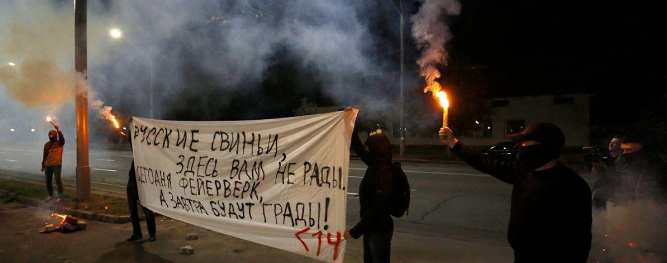 Посольство Росії у Києві надіслало ноту протесту через нічний обстріл феєрверками
