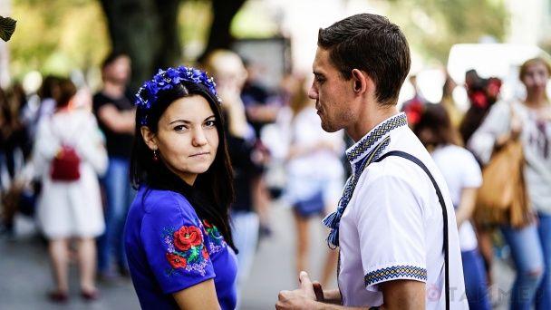 Малыши на Мегамарше: маленькие одесситы в вышиванках прошлись по главной улице города