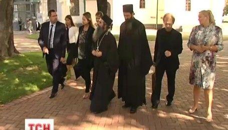 Монахи из горы Афон посетили Киев, чтобы прочитать лекцию в Софии Киевской