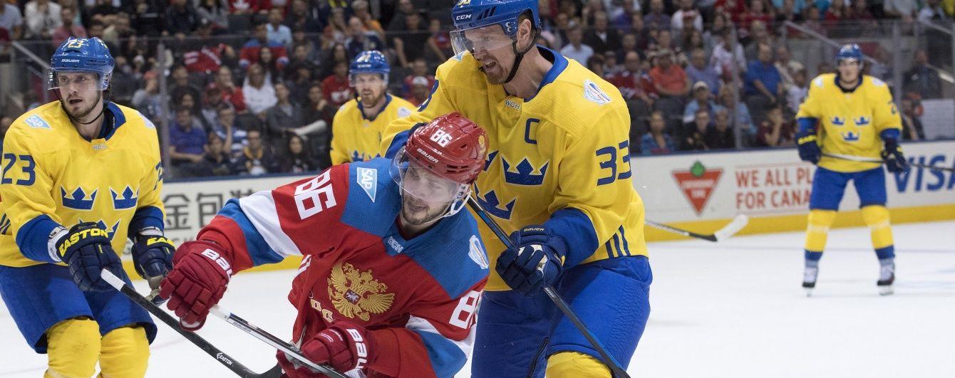 Шведи обіграли росіян, американці розгромили фінів. Як грали на Кубку Світу з хокею 18 вересня