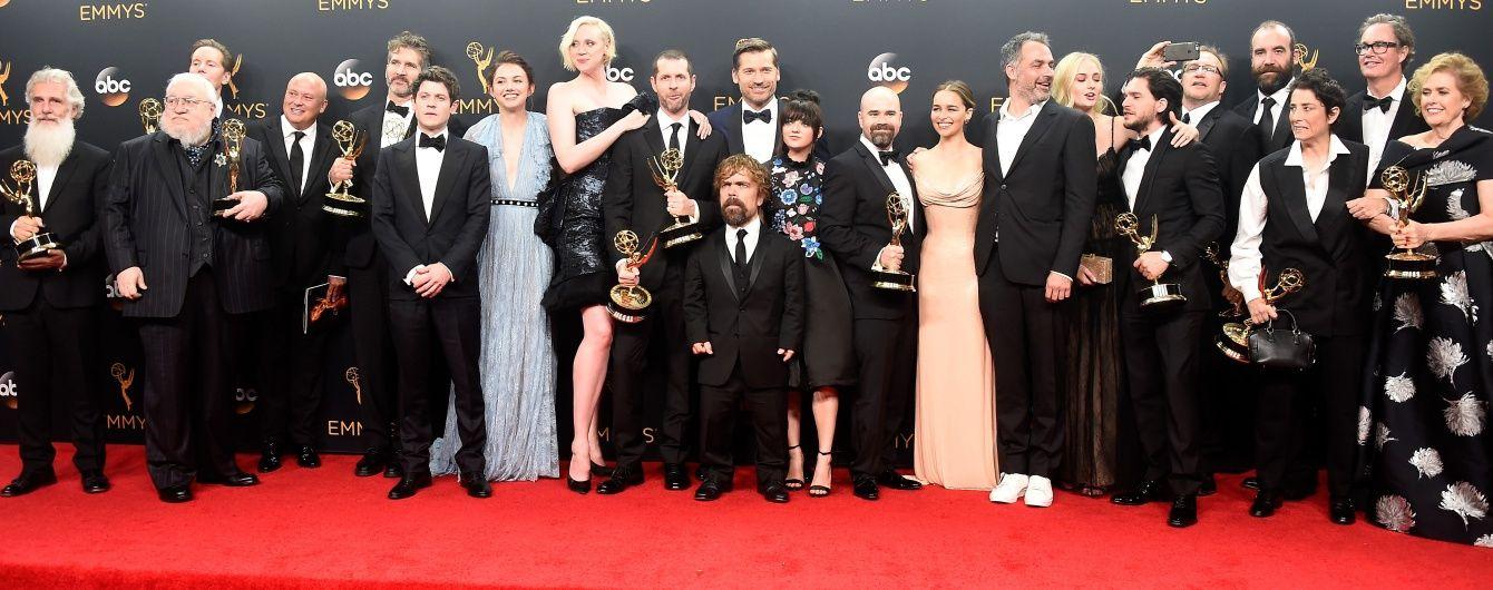 """Тріумфальна ніч для """"Гри престолів"""". У США визначили повний список переможців премії Еммі. Інфографіка"""