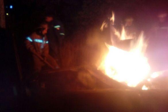 у харкові з водієм згоріло авто