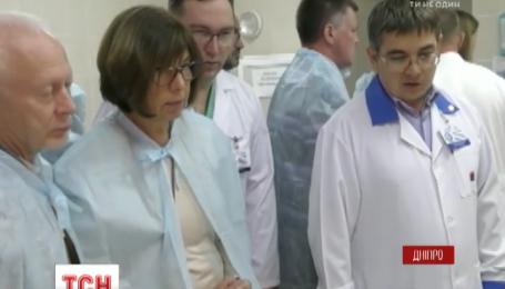 Евродепутаты посетили Днепровскую больницу имени Мечникова