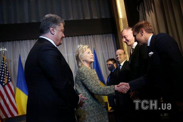 Порошенко в Нью-Йорку зустрівся із Гілларі Клінтон