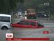 Непогода в Одессе образовала транспортный коллапс