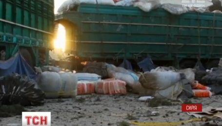 Российские истребители разбомбили гуманитарный конвой в Сирии