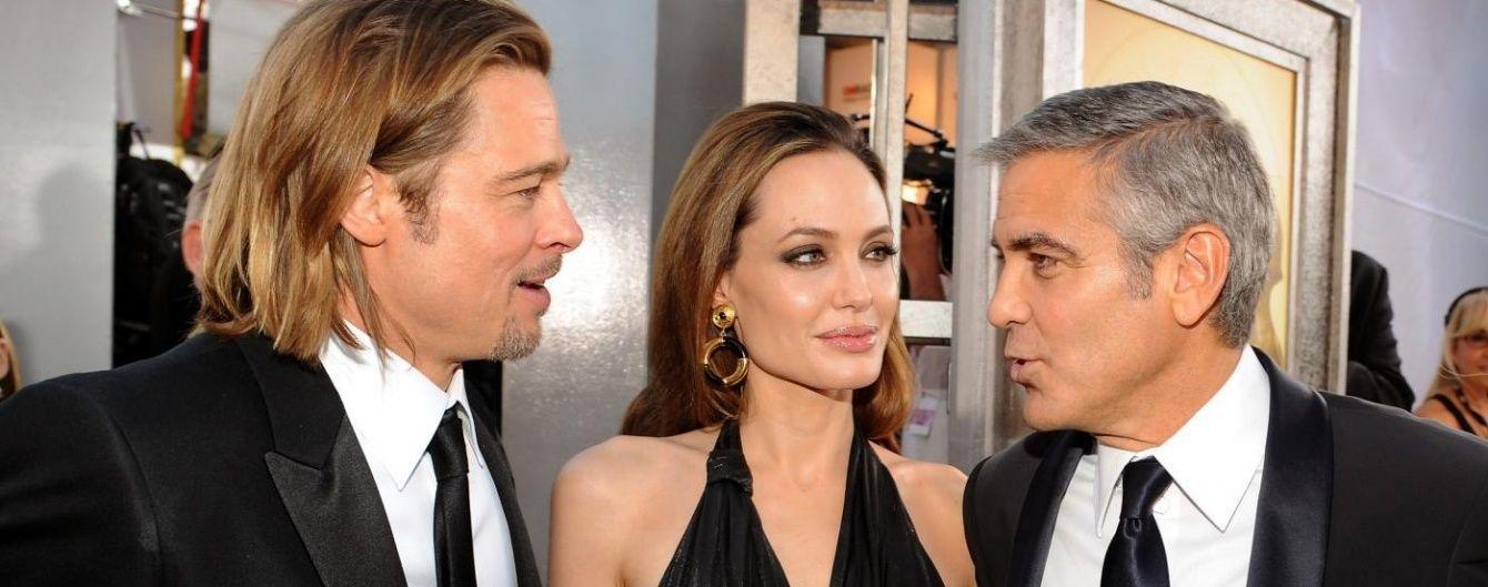 Зірковий друг Бреда Пітта Джордж Клуні прокоментував розлучення із Джолі