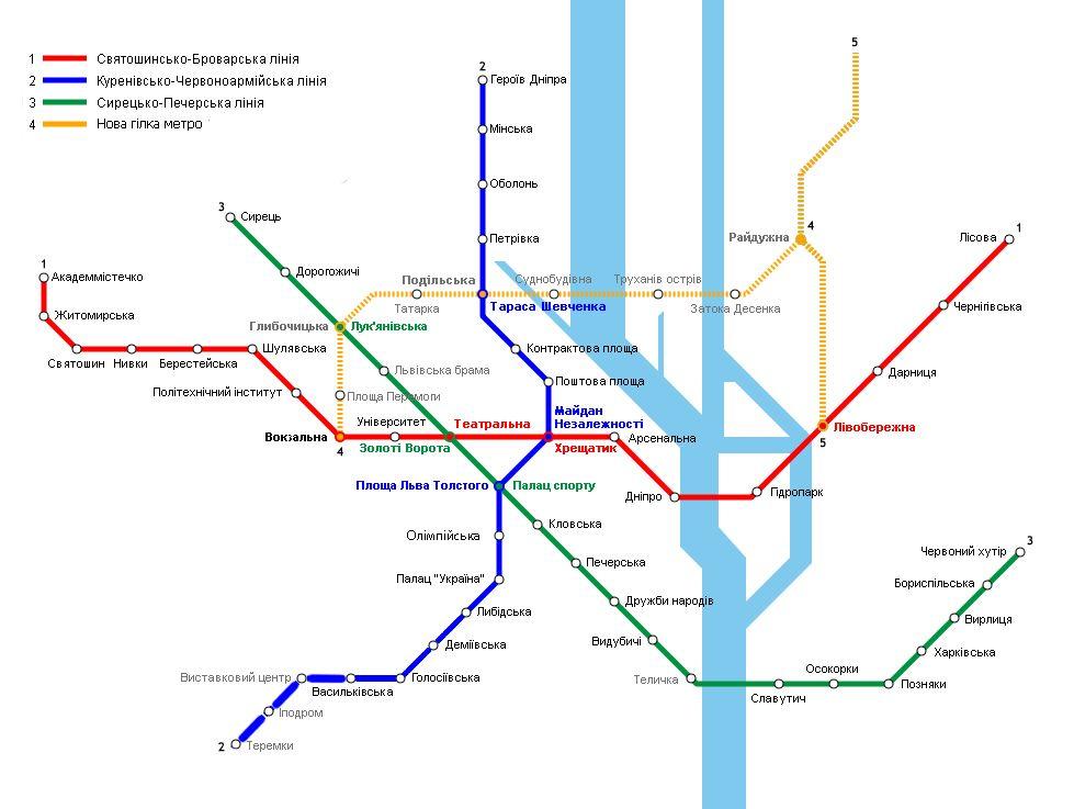 метро на троєщину