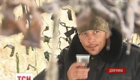 Украинские военные в зоне АТО противостоят врагу и непогоде