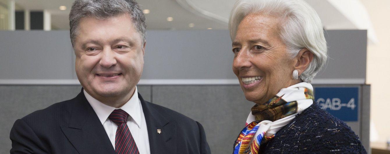 Порошенко договорился с Лагард о дате следующего визита миссии МВФ в Украину