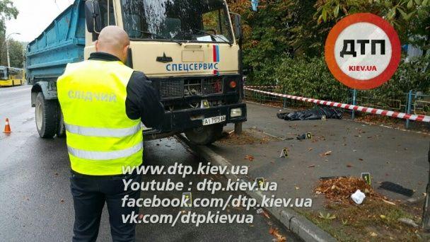 В Киеве грузовик сбил насмерть инженера по безопасности Нацбанка