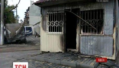 В Одессе ночью сожгли диспетчерский пункт нелегальной автостанции вместе со сторожем