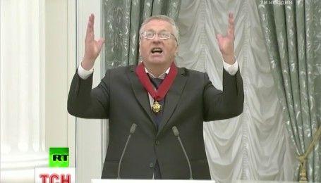 """Новый уровень подхалимства: Жириновский спел Путину """"Боже, царя храни"""""""