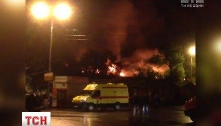 Крупный пожар в Москве: по меньшей мере восемь пожарных погибли