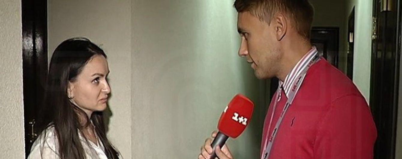 Корреспондент ТСН застал недоуволенную судью Царевич в Печерском суде