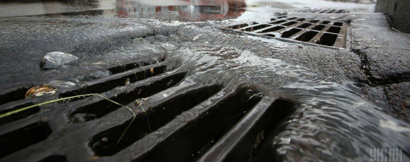 Потужна злива затопила кілька районів Черкас