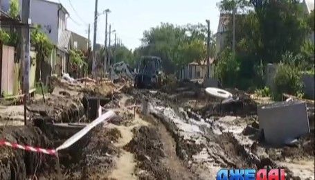 В Одессе жители одной из улиц стали заложниками стихии строительных работ