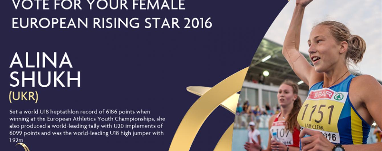 Украинские спортсмены стали претендентами на звание европейской восходящей звезды