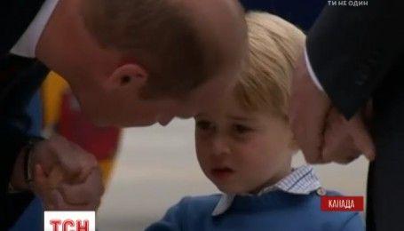 Маленький принц Джордж не захотел поздороваться с Джастином Трюдо во время визита в Канаду