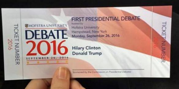 Квитки на дебати Хілларі Клінтон