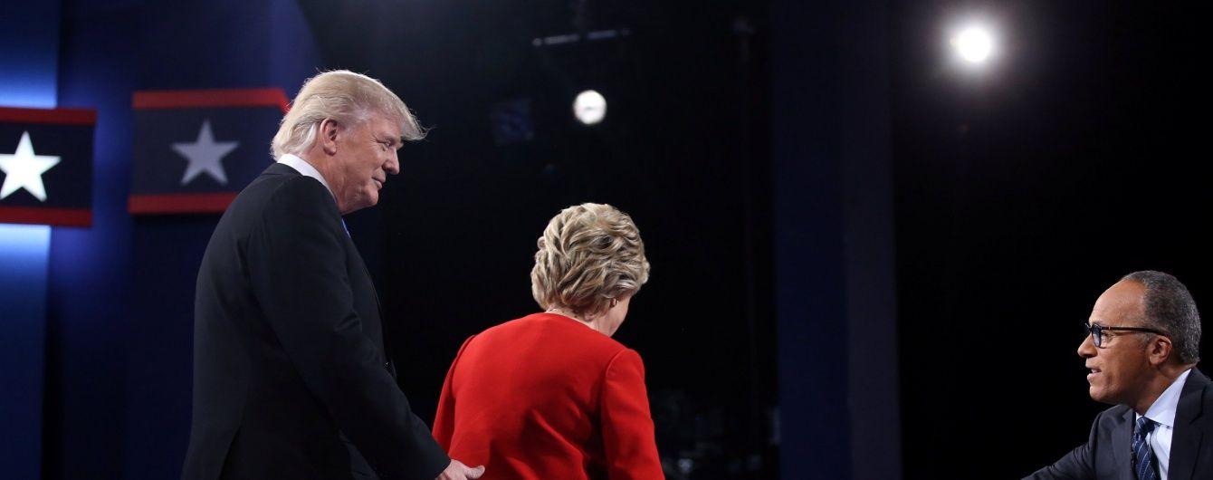 Найяскравіші фрази, якими обмінялись Трамп та Клінтон на дебатах