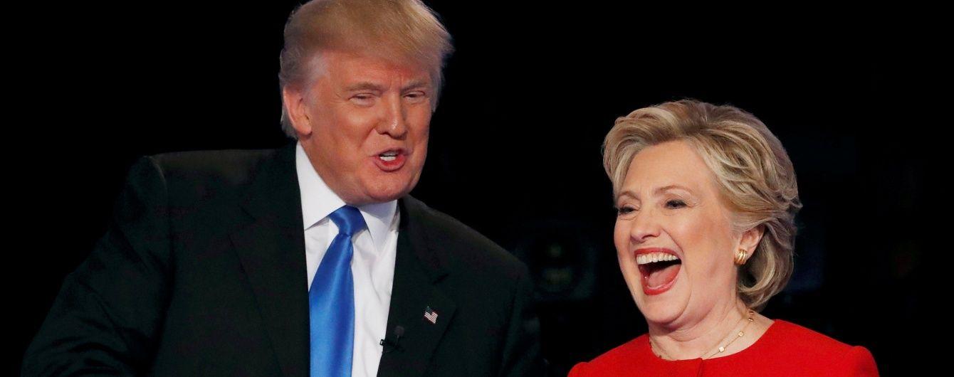 Дебати між Клінтон та Трампом у цифрах. Інфографіка