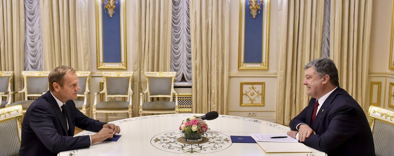 Порошенко і Туск скоординували дії щодо ратифікації Угоди про асоціацію і безвізового режиму