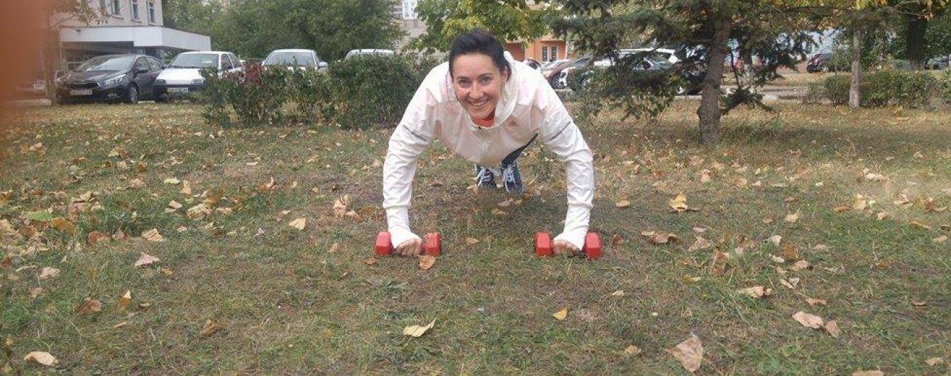 Усміхнена Соломія Вітвіцька показала, як займається спортом
