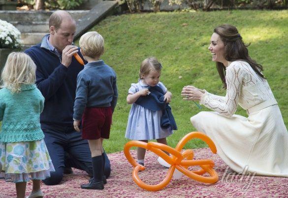 Герцогиня Кембриджская на детской вечеринке, Канада_20