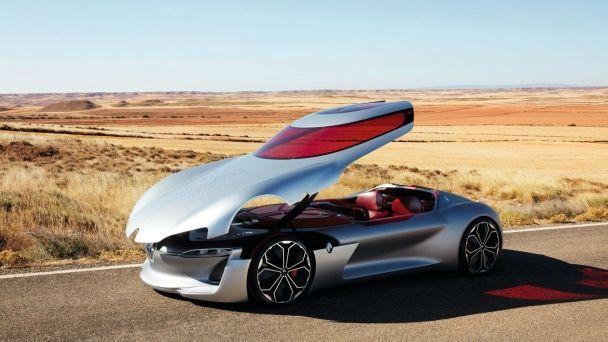 Renault выкатил футуристическое электрическое купе Trezor