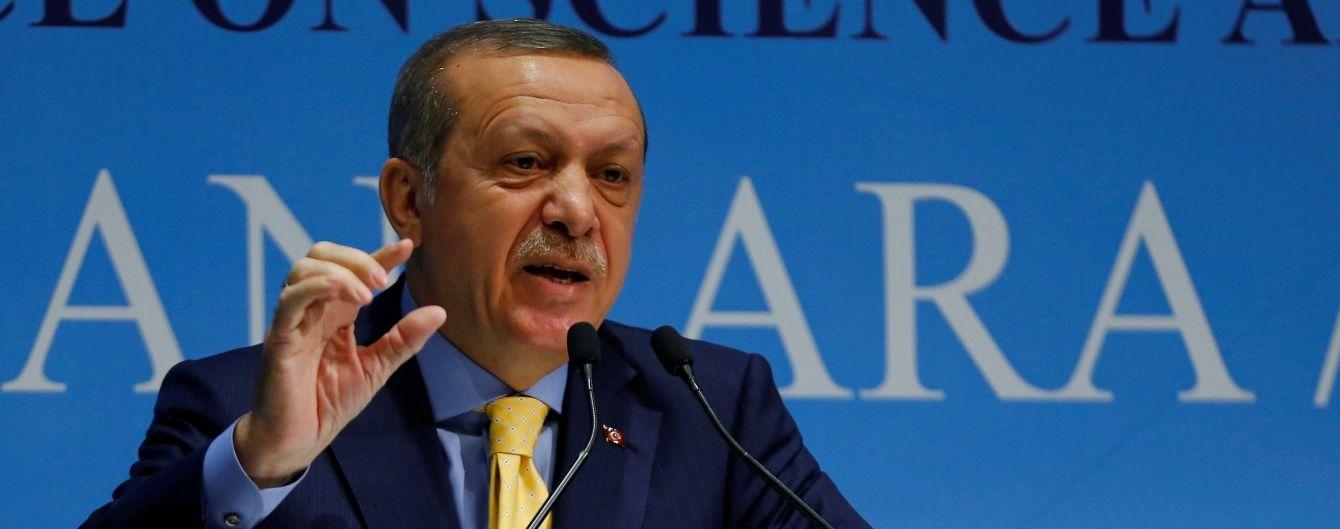 Ердоган різко відповів на резолюцію про замороження вступу Туреччини до ЄС