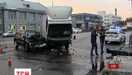 В Киеве непогода стала причиной увеличения количества ДТП