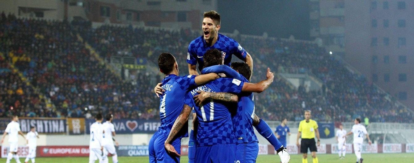 Хорватия шестью голами деклассировала Косово в отборе на ЧМ-2018