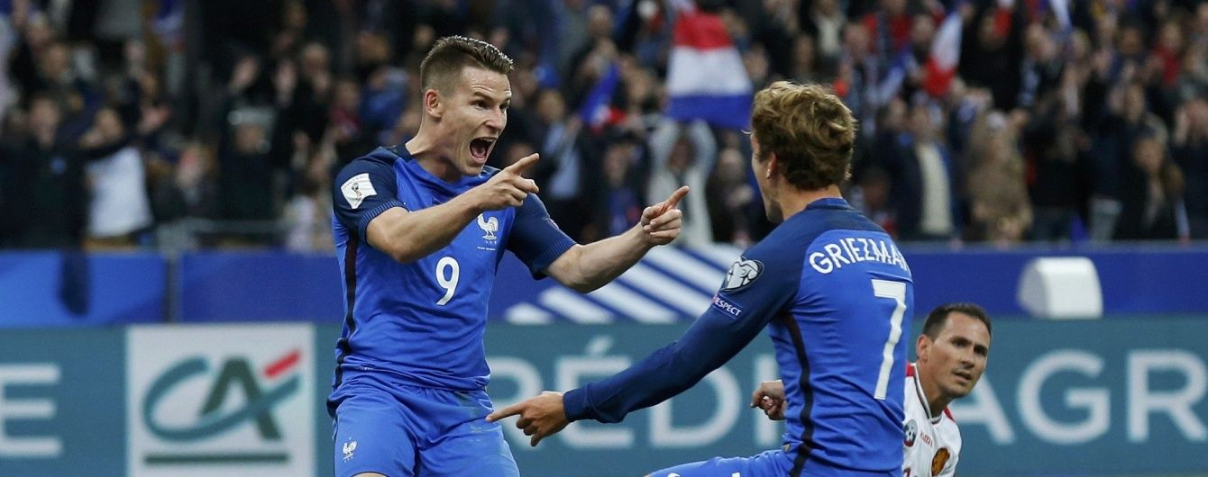 Франция поиздевалась над Болгарией в отборе на ЧМ-2018