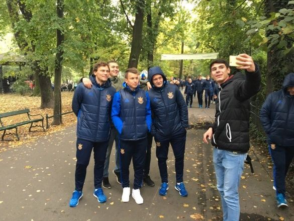 Збірна України у центрі Кракова_3