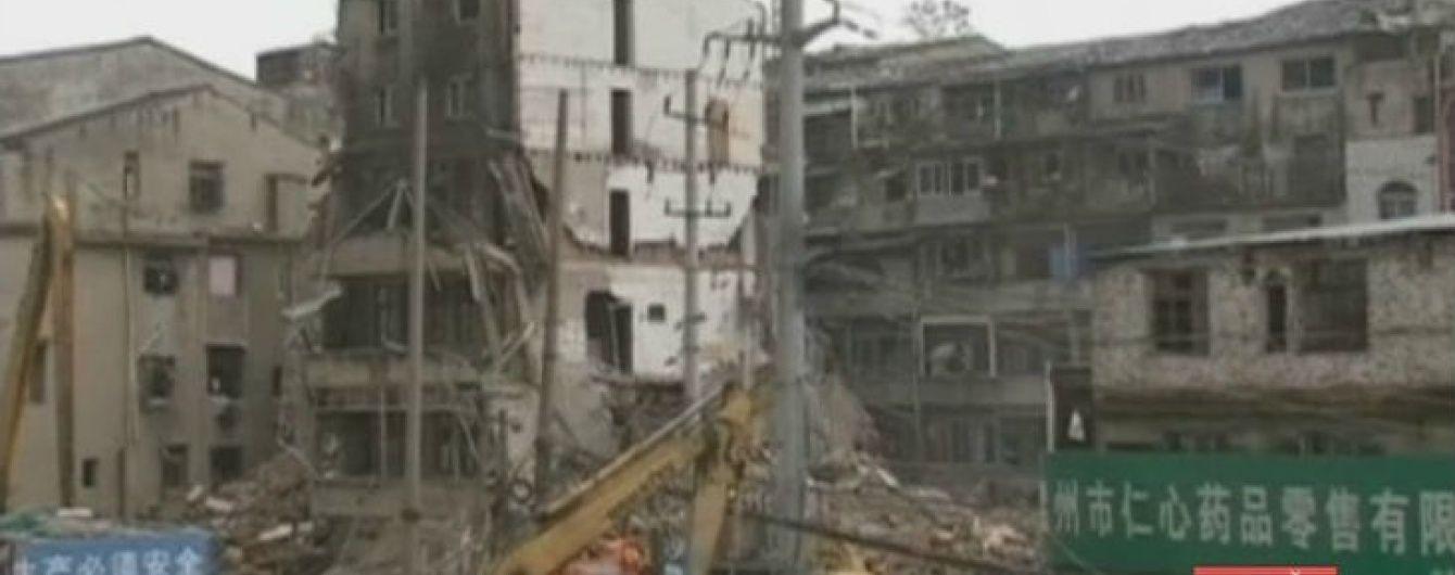 Обвал 4 будинків у Китаї вбив щонайменше 8 людей