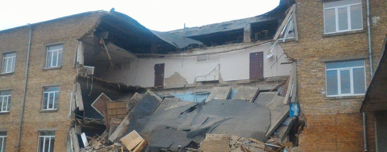 В Василькове на Киевщине рухнула часть школы