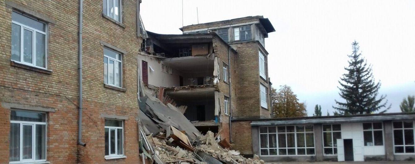 Обрушившуюся школу в Василькове могут окончательно снести