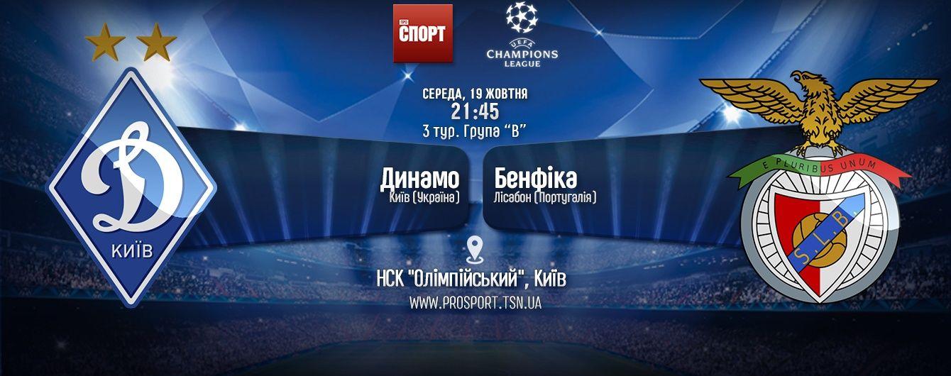 Динамо - Бенфика - 0:2. Онлайн-трансляция матча Лиги чемпионов