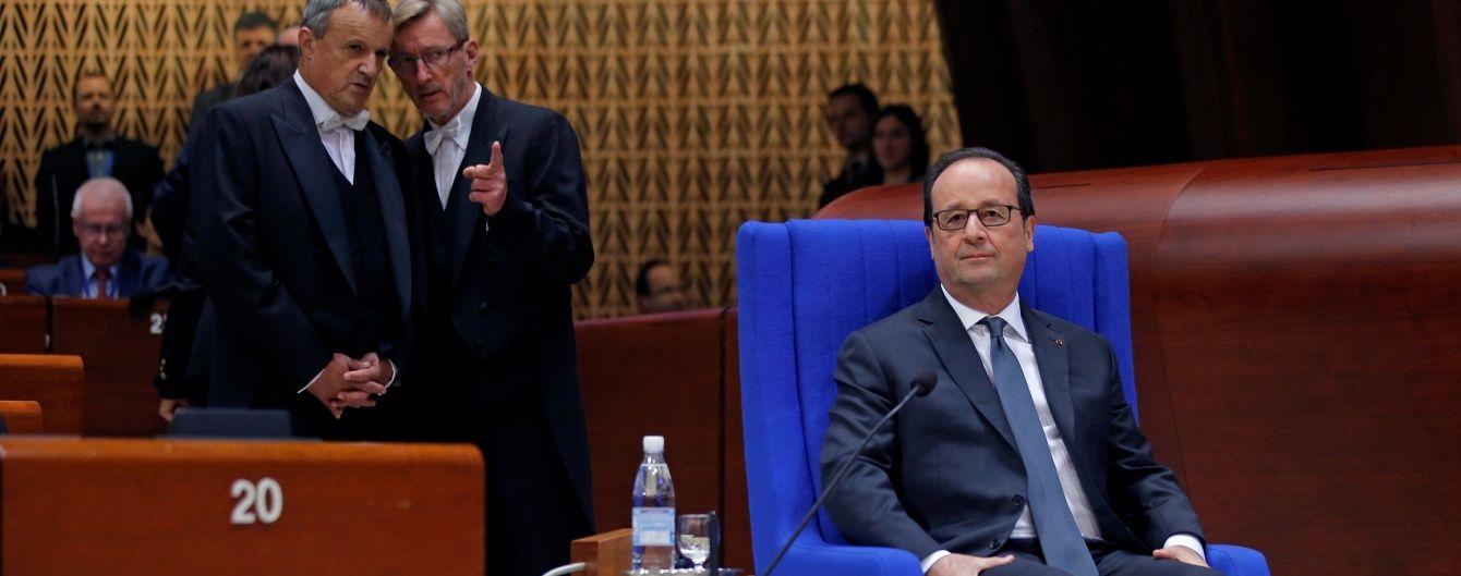 Олланд отказался сопровождать Путина во время визита в Париж