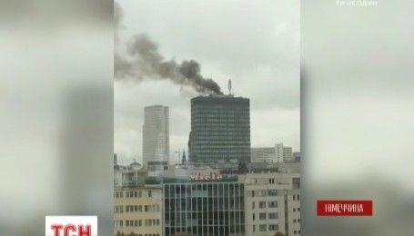 В центре Берлина вспыхнул пожар