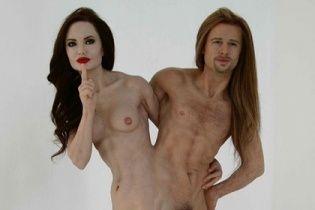 Голі і воскові: на eBay виставили фігуру Джолі і Пітта, які зрослися стегнами