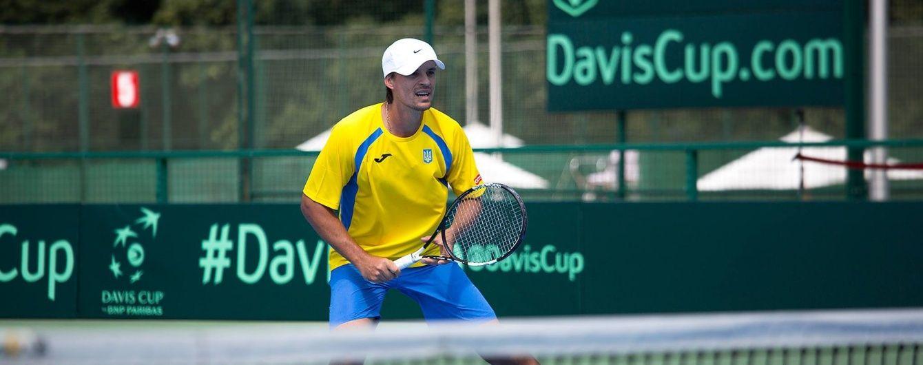 Украинец Молчанов не смог пробиться в четвертьфинал теннисного турнира в Ташкенте