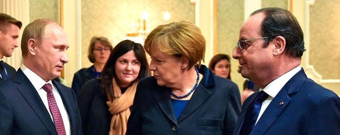 Путін з Меркель та Олландом обговорили ситуацію в Україні та Сирії