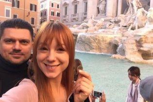 Новоспечена дружина Світлана Тарабарова похизувалася медовим місяцем у Римі