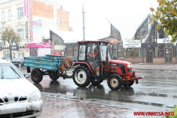 Циклон приніс на Вінничину сильне похолодання та перший сніг
