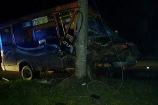 Маршрутка с пассажирами в Чернигове врезалась в столб
