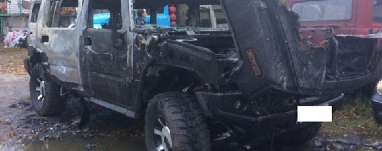 В Кременчуге на штрафплощадке сгорел печально известный Hummer