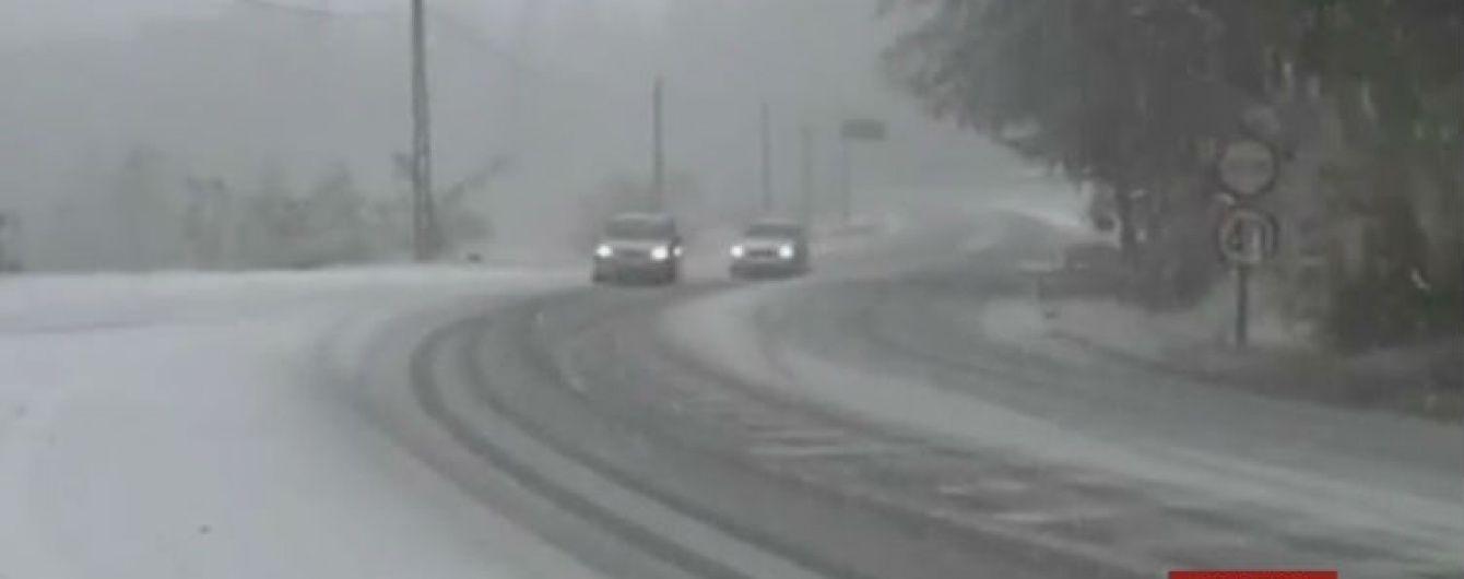 Снежная завеса накрыла Румынию
