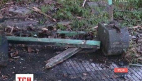 В Абхазии террорист взорвал себя у входа в здание телецентра